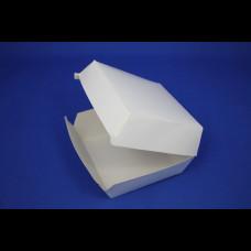 Коробка для гамбургера 110х110х70 мм белая