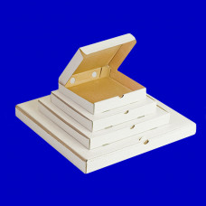 Коробка 25х25х3,5 см для пиццы гофрокартон белый
