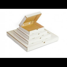Коробка 42х42х4 см для пиццы гофрокартон белый