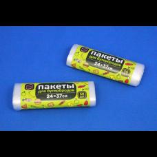 Пакет для бутербродов ПНД 24х37 6 мк рулон 50 шт КонтинентПак