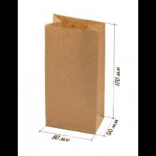 Пакет бумажный  80х50х170 крафт 70 гр (600) ТП
