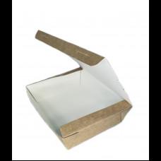 Контейнер бумажный ланч-бокс без окна 1000 мл 190х150/170х130 h-50 мм