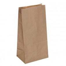 Пакет бумажный 105х60х260 +/-5 мм крафт 70 гр ПП