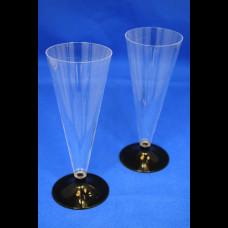 Бокал для шампанского Конус 150 мл прозр. низкая ножка (6шт/упак) Покров. Полимер