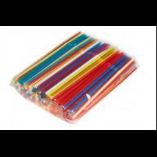 Трубочки в индивидуальной упаковке прямые цветные 5х210 250 шт
