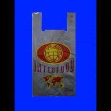 Пакет-майка ПВД 32х18х64 Интерфуд серый 40 мк