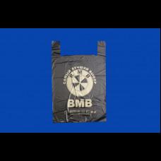 Пакет-майка ПНД 43х17х69 БМВ 25 мк черная
