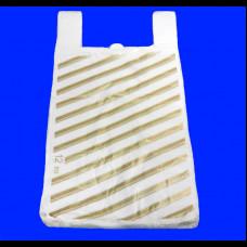 Пакет-майка ПНД 37х16х67 Полоса белая 14 мк