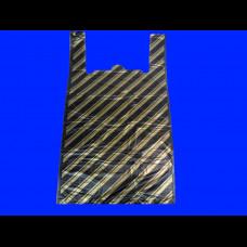 Пакет-майка ПНД 37х16х67 Полоса черная 14 мк