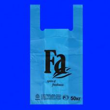 Пакет-майка ПНД 30х16х57 FA синяя 30 мк
