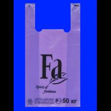 Пакет-майка ПНД 30х16х57 FA фиолетовая 30 мк