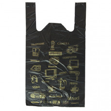 Пакет-майка ПНД 43х17х69 Электроника черная 15 мк