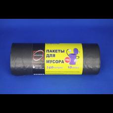 Пакет для мусора 90х130 ПВД рулон 240 л 10 шт. КонтинентПак (12)