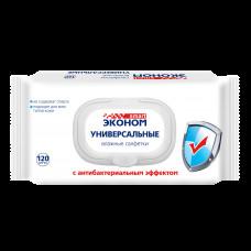 Салфетка влажная120 шт Эконом smart антибактериальные с пластиковым клапаном
