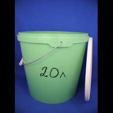 Ведро 20 л цветное с метал. ручкой d-325, h-337 КП