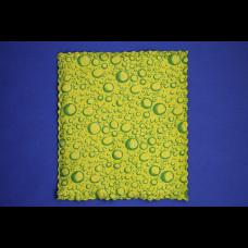 Салфетка Universal (микрофибра+губка) 17х19 зелёный