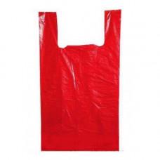 Пакет-майка ПНД 25+12х45 красная 8 мк Н