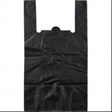 Пакет-майка ПНД 28х14х50 черная 8 мк К