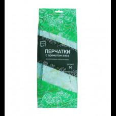 Перчатки хозяйственные с запахом алое M КонтинентПак