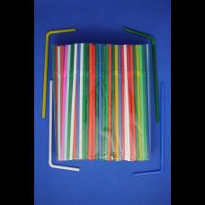 Трубочки с гофр. цветные 5х210 100 шт.