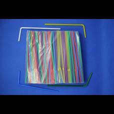 Трубочки с гофр. цветные 5х210 1000 шт.