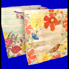 Пакет 31х45х19 крафт Цветы микс (220)