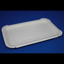 Тарелка бум. прямоугольная 200х130х10