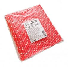 Бумажные трубочки 6х197 250 шт звезды КонтинентПак