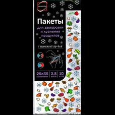 Пакет для заморозки и хранения 25х35 zip-lock (10шт/уп) КонтинентПак