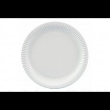 Тарелка бум. 230 мм белая ИП