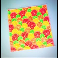Салфетка из микрофибры 29х29 с рисунком грейпфруты 220 пл