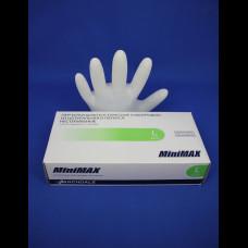 Перчатка Латекс медицинская опудренная MiniMax 100 шт. L 10%