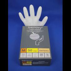 Перчатка Латекс медицинская опудренная 100 шт. М 10%
