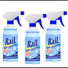 Средство чистящее RAIL для стекол и зеркал с тригером 500 мл