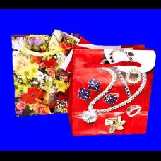Пакет 08х9х4,5 ламинир. Цветы микс