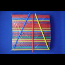 """Трубочки прямые цветные """"MILK"""" 8х240 250 шт."""