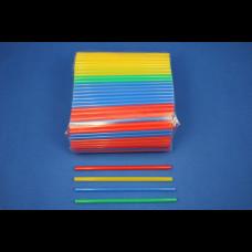 Трубочки мини цветные 5х125 400 шт.