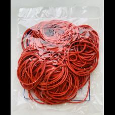 Резиновые колечки 1000 гр 50 мм красный цвет КонтинентПак