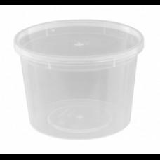 Банка 500 мл суповая с крышкой d-111 ПП прозр. БП
