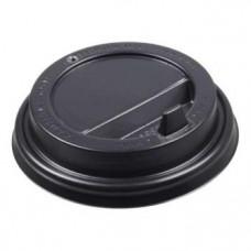 Крышка 80 мм для гор. напит. с клапаном Черная ПП (2000) К