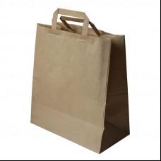 Пакет с пл. руч. б/п 320х200х370 крафт (250)